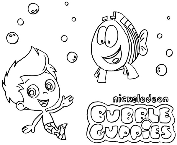 bubble guppies color pages