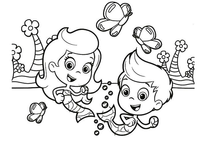 Printable Bubble Guppies Coloring Pages Coloring Me Guppies Coloring Page