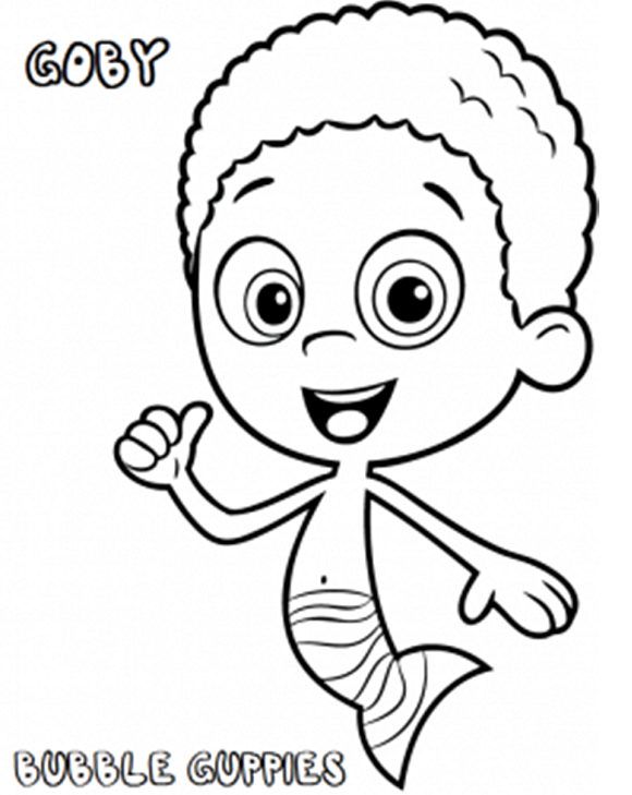 bubble guppies coloring pages goby bubble guppies coloring pages goby
