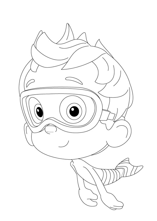 bubble guppies goby coloring pages - photo#25