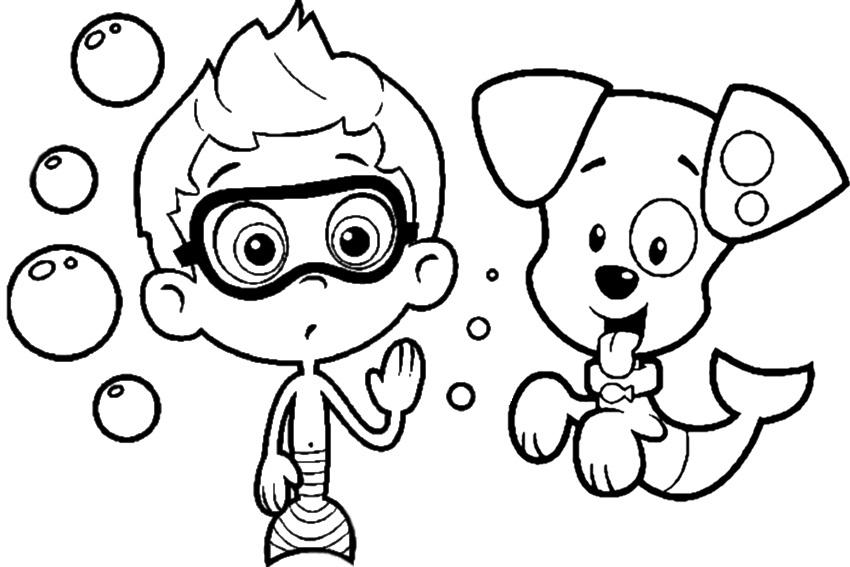 Bubble Guppies Color BookGuppiesPrintable Coloring Pages Free