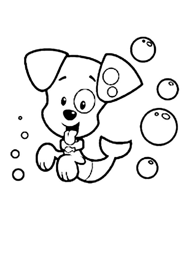 printable bubble guppies coloring pages coloring me Nonny Bubble Guppies Coloring Pages  Bubble Puppy Coloring Page