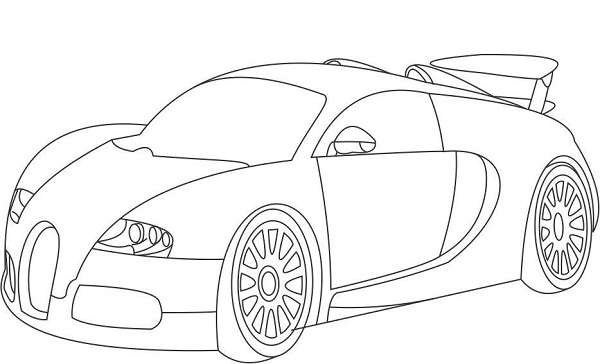 bugatti coloring pages print - Bugatti Coloring Pages