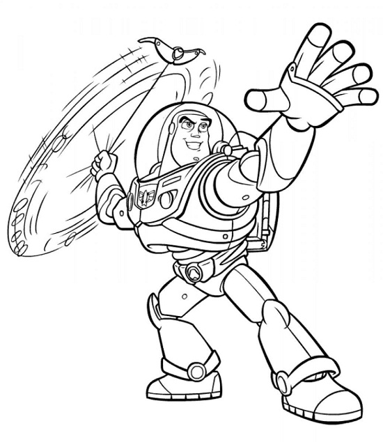 Buzz Lightyear Champion Like A Star Coloring Pages Printable | 635x550