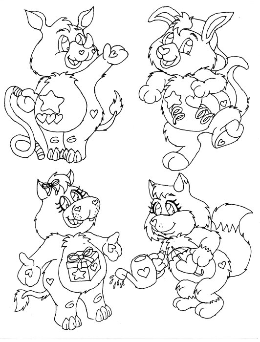 care bears cousins coloring pages - photo#9