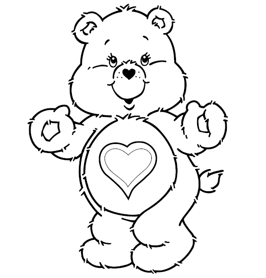 Printable Care Bears Coloring Pages Coloring Me - care bear colouring pages to print