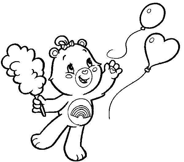 Care Bears Coloring Pages Cheer Bear Coloring Me