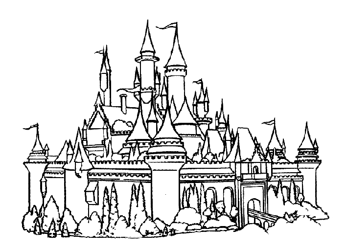 Fantasy Castle coloring page | Free Printable Coloring Pages | 513x709