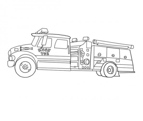 Simple Fire Truck Coloring Pages Coloring Pages