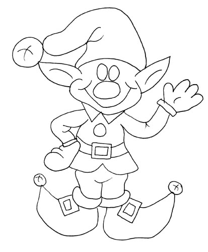 Printable Elf Coloring Pages  Coloring Me