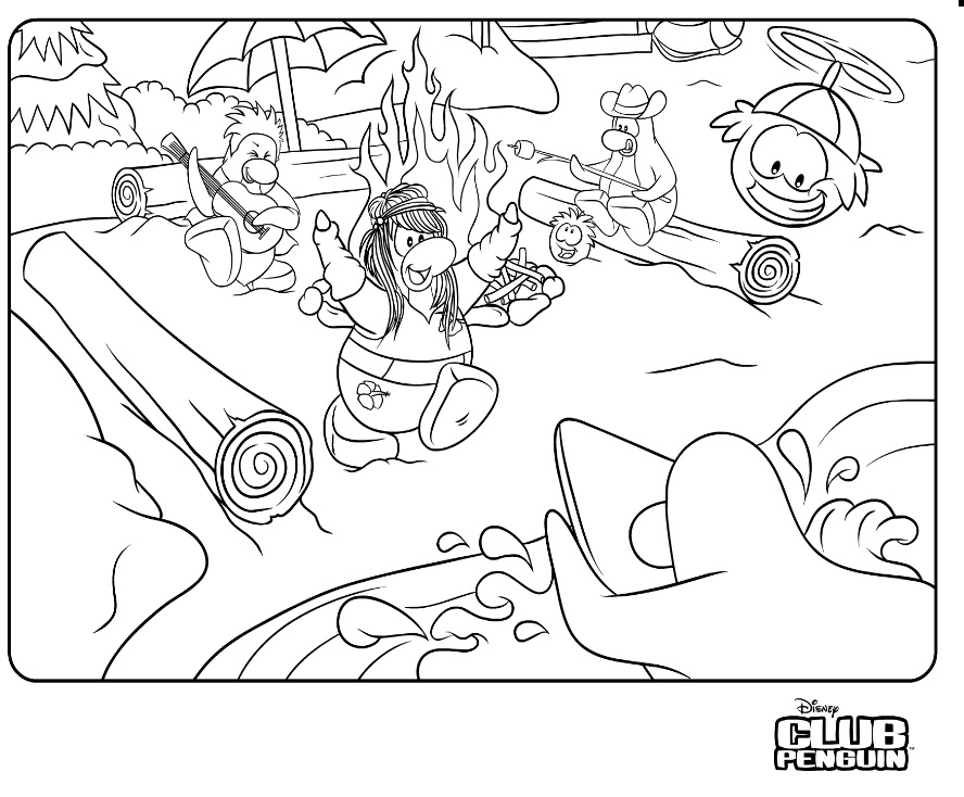 Club Penguin Coloring Sheets
