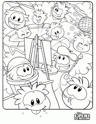 Printable Club Penguin Coloring Pages   Coloring Me