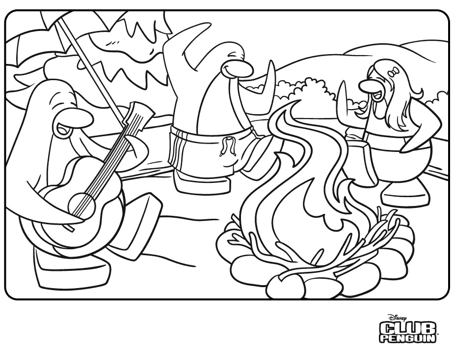 Printable Club Penguin Coloring Pages | Coloring Me
