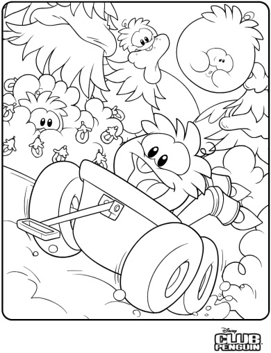 printable club penguin coloring pages me