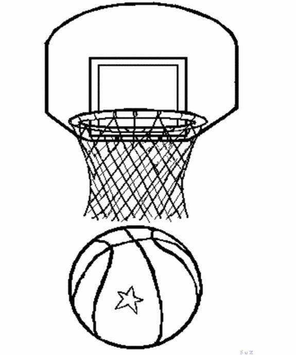 Printable Basketball Coloring Pages Coloring Me Basketball Color Page