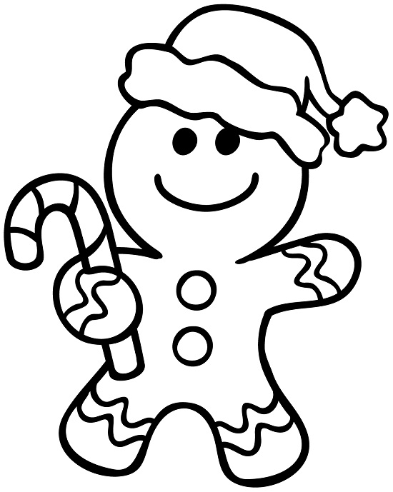 ginger man coloring pages - photo#1