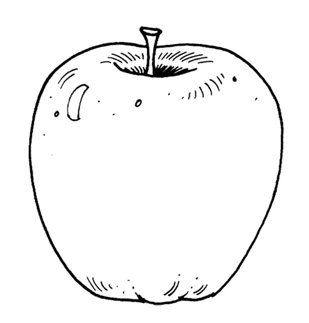 Free Printable Apple Coloring Pages For Kids | 648x620