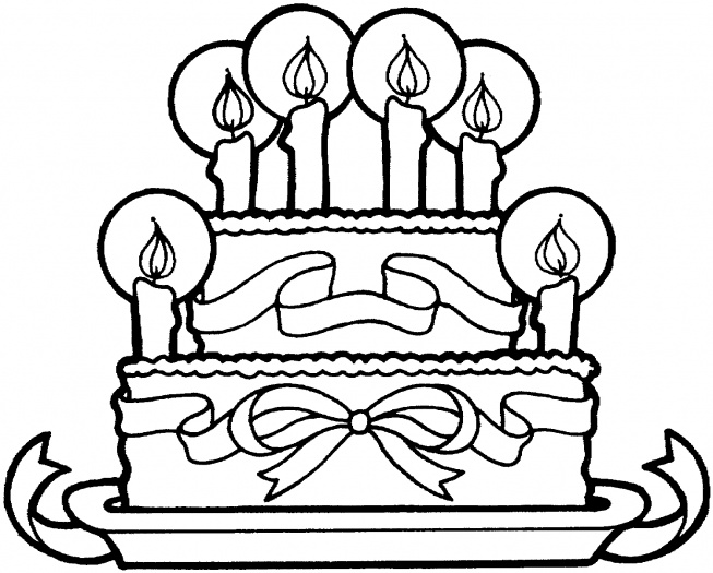 birthday cake coloring sheets happy
