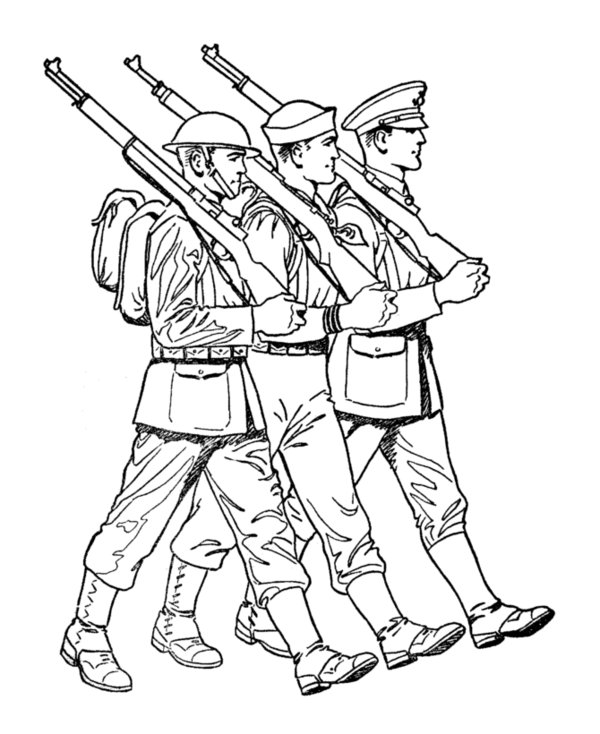 Printable Army Coloring Pages