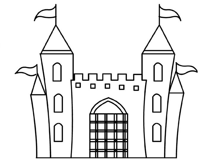 coloring pages castle - Castle Coloring Pages