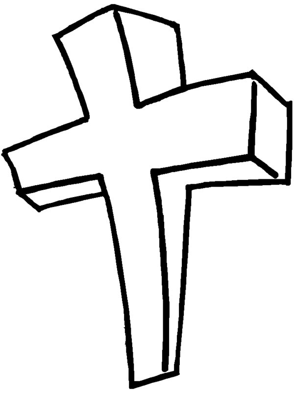 Easter Cross Coloring Pages With Roses