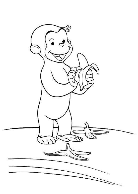 coloring pages of curious george - photo#21