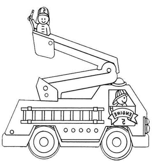 fire truck coloring pages firefighter - photo#7