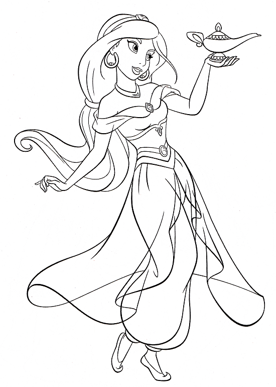 Printable Jasmine Coloring Pages | Coloring Me