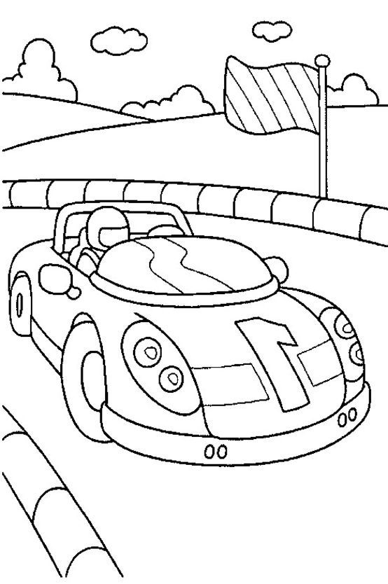 Printable Race Car Coloring Pages | Coloring Me