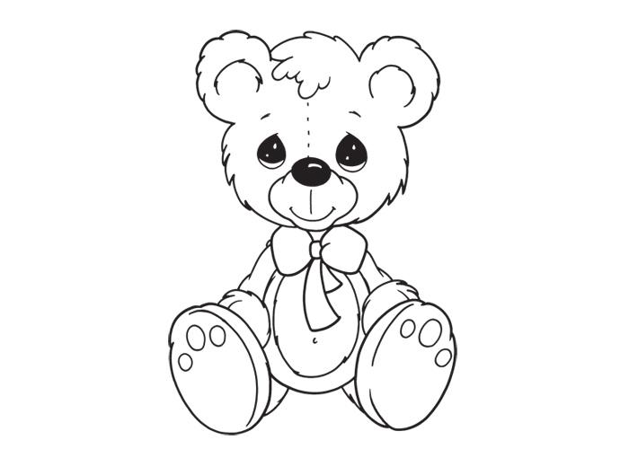 Free Teddy Bear Coloring Pages - Democraciaejustica