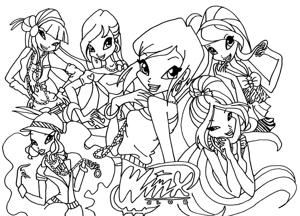 winx club coloring sheets