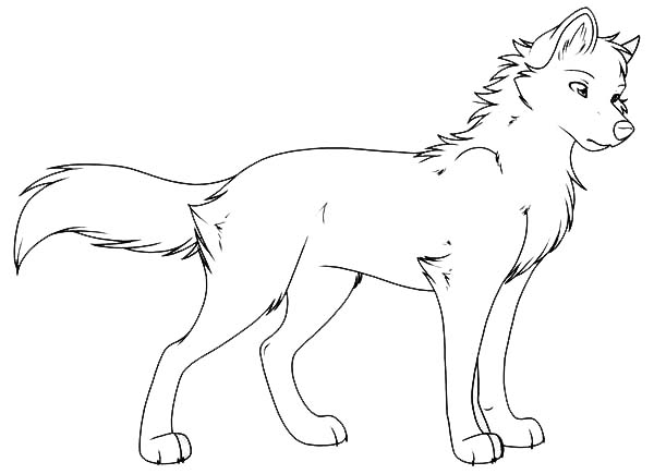 Printable Wolves Coloring Pages Coloring Me Anime Wolf Coloring Pages Printable
