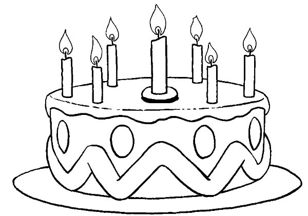 Printable Birthday Cake Coloring Pages Coloring Me Cake Printable Coloring Pages