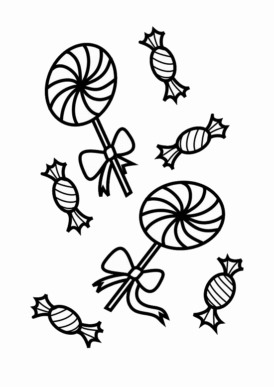 coloring pages fo candy - photo#33