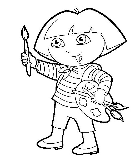 coloring pages of dora - Dora Coloring Pages