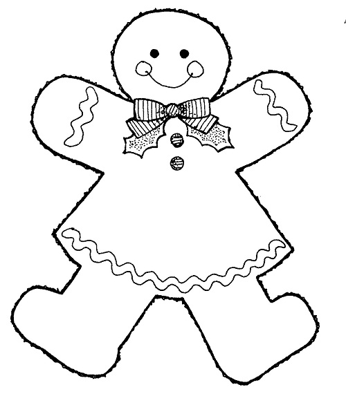 ginger man coloring pages - photo#21