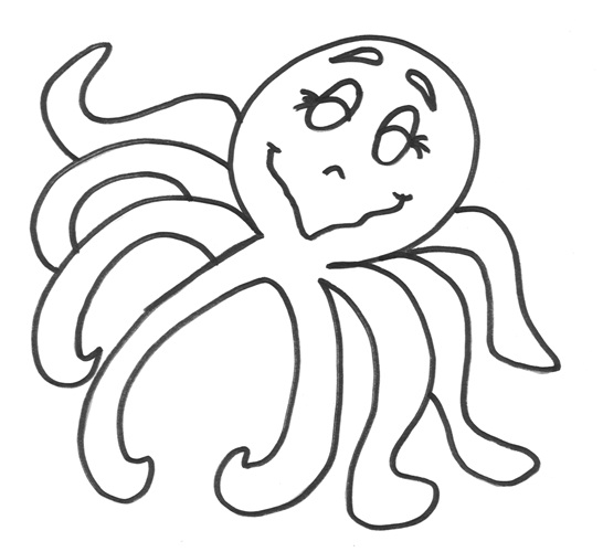 Printable Octopus Coloring Pages Coloring Me Octopus Coloring Pages