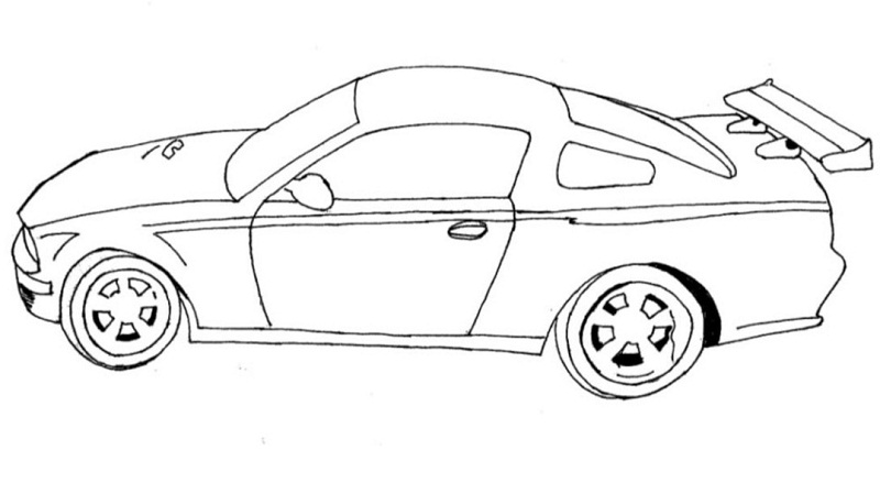 coloring pages of race cars
