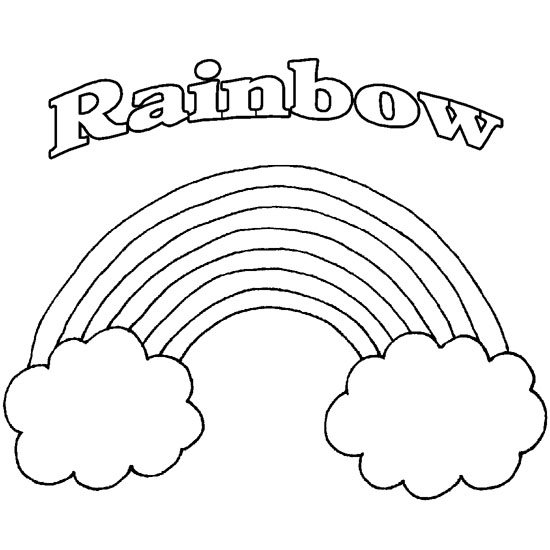 Printable Rainbow Coloring Pages Me