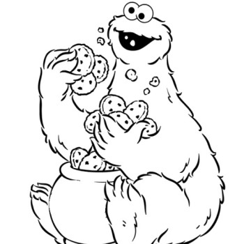 printable cookie monster coloring pages | coloring me - Monsters Coloring Pages Printable