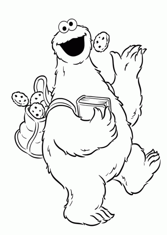 Printable Cookie Monster Coloring Pages | ColoringMe.com