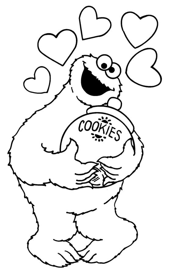 Sesame Street Cookie Monster Coloring Pages | Coloring Page