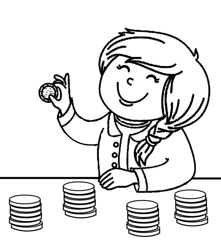 counting money coloring pages coloring page