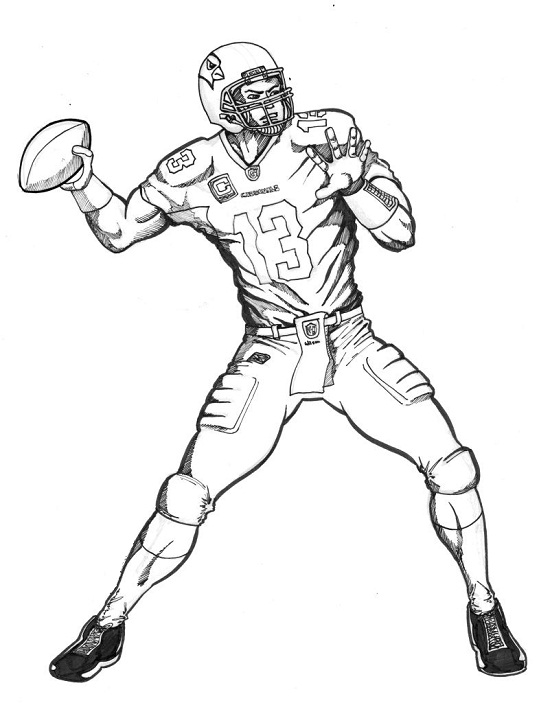 Cowboy Football Player Coloring Page - Coloring Page