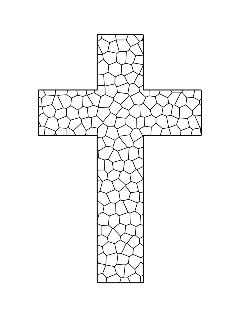 Clip Art Cross Coloring Page Printable printable cross coloring pages me sheets