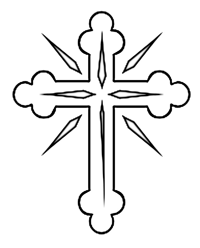 crucifix coloring pages - photo#21