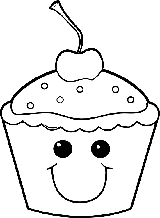 Printable Cupcake Coloring Pages Coloring Me Coloring Pages Of Cupcakes