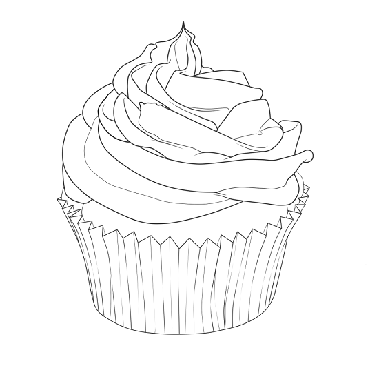 Printable Cupcake Coloring Pages | ColoringMe.com