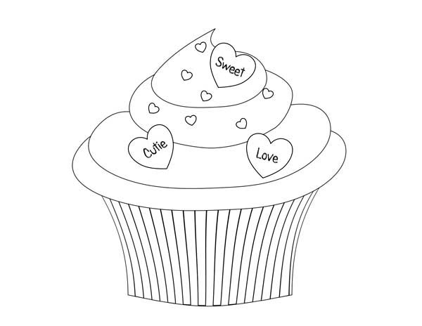 Printable Cupcake Coloring Pages | Coloring Me