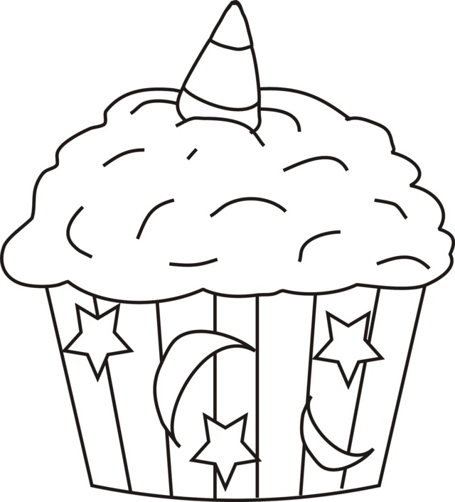 Cup Cake Coloring Pages For Preschoolers : Printable Cupcake Coloring Pages Coloring Me